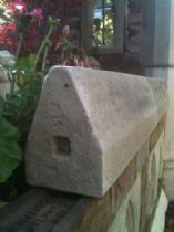 Garden folly / Building / Double weathered wall capping stones
